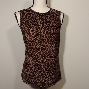 Chaps leopard print top size medium